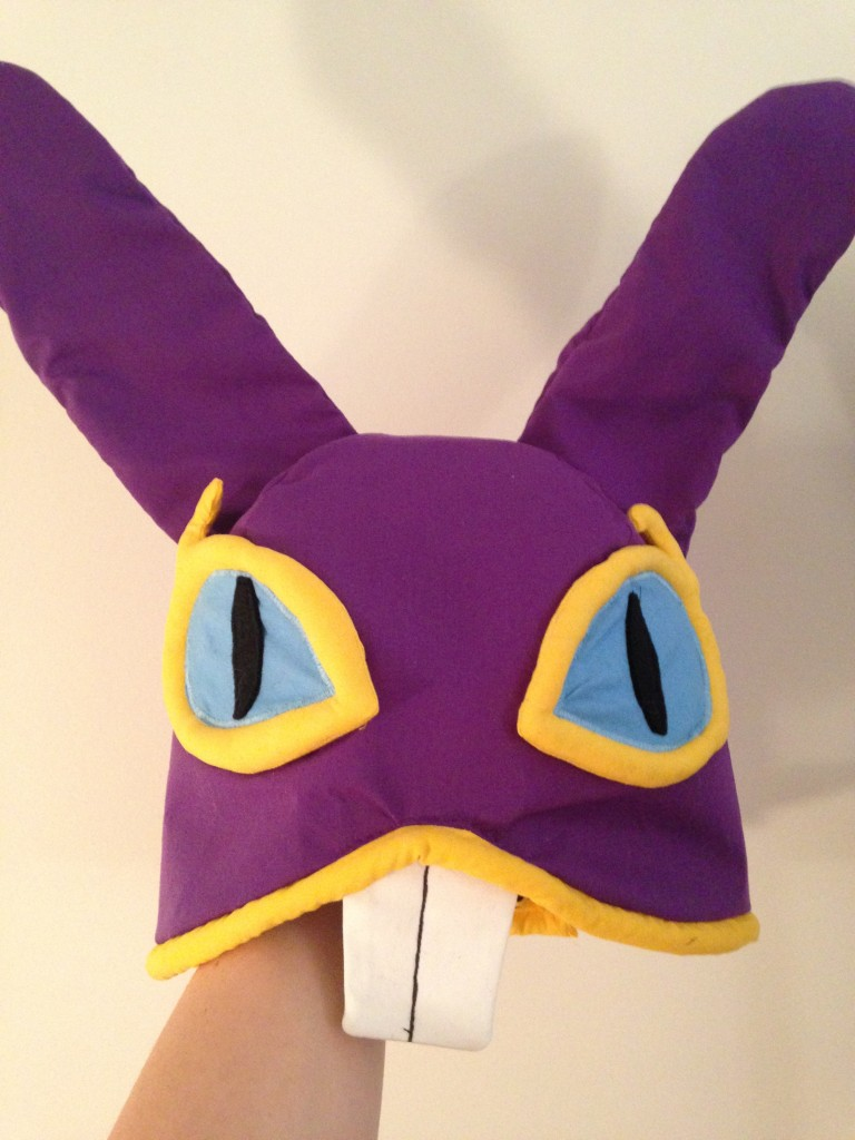 A photo of the finished Ravio hood.