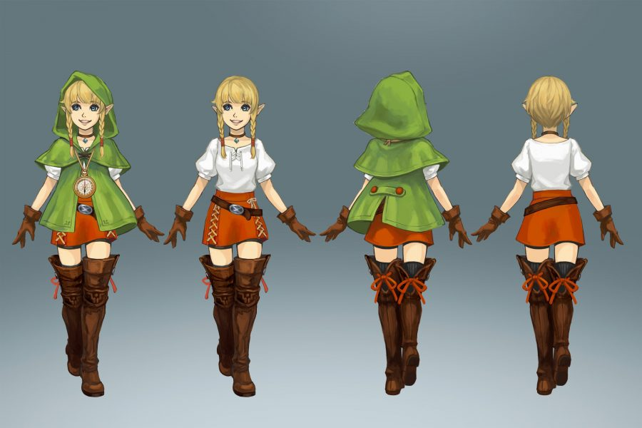 Concept art of Linkle.